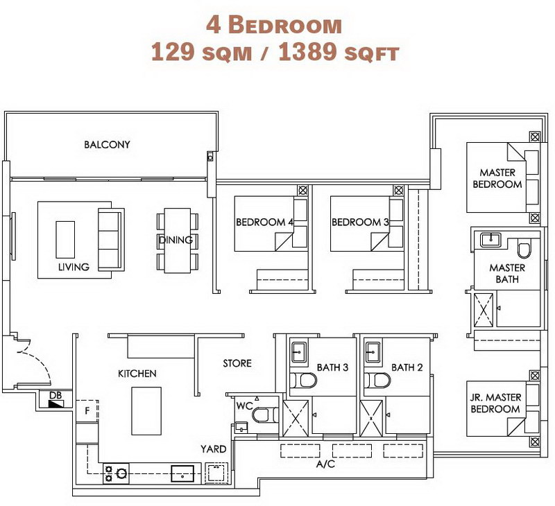 OLA EC 4 Bedroom
